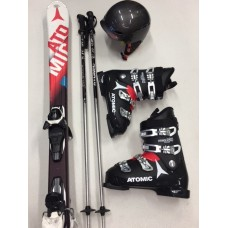 ECONOMY**** Ski + Schuhe + Stöcke + Helm
