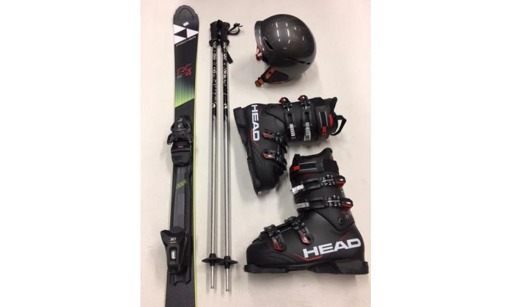 PREMIUM Ski****** + Schuhe + Stöcke + Helm