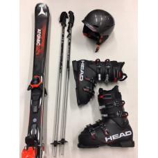 TOP Ski + Schuhe + Stöcke + Helm