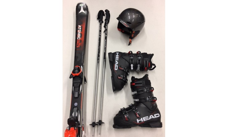 TOP Ski ***** + Schuhe + Stöcke + Helm