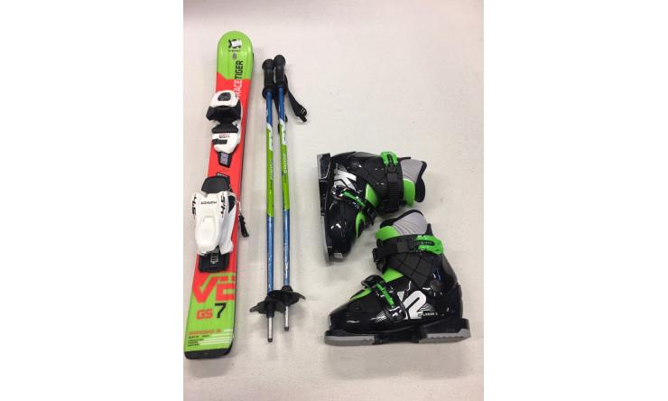 Ski + Schuhe + Stöcke  (Skilänge bis max. 110 cm)