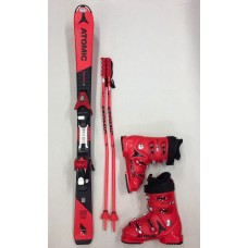 Ski + Schuhe + Stöcke  (Skilänge 111 cm bis 150 cm)
