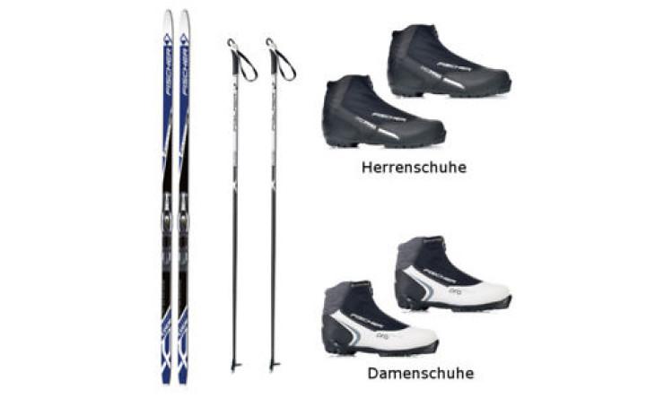 Langlaufski + Schuhe + Stöcke CLASSIC